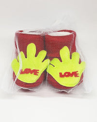 Newborn Baby Red Love Cotton Shoes