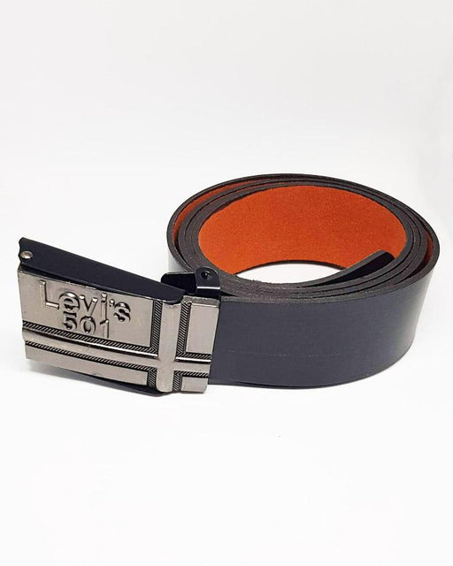 Levis 501 Leather Belts For Men - Black - Hiffey