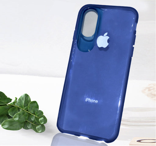Apple Iphone X See Through Simple Back Cover - Blue - Hiffey