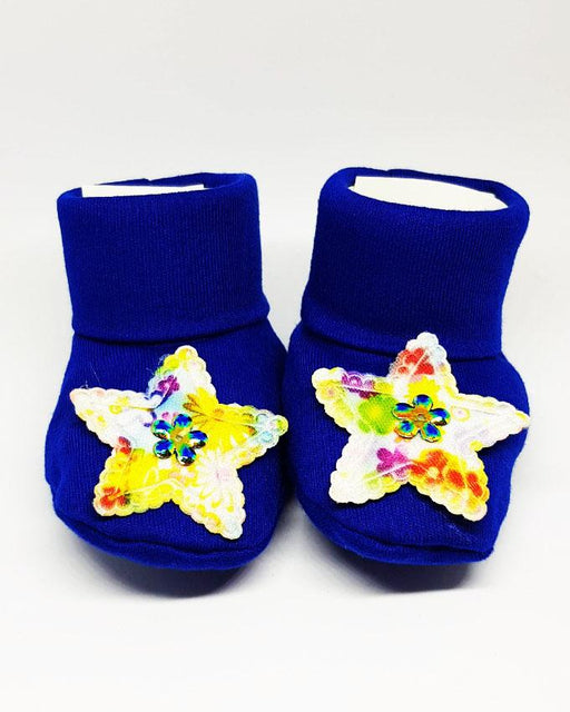 Newborn Baby Blue Star Cotton Shoes - Hiffey