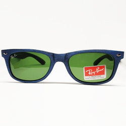 RayBan Blue wood Textured Square Sunglasses