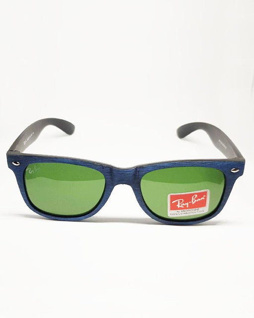 RayBan Blue wood Textured Square Sunglasses - Hiffey