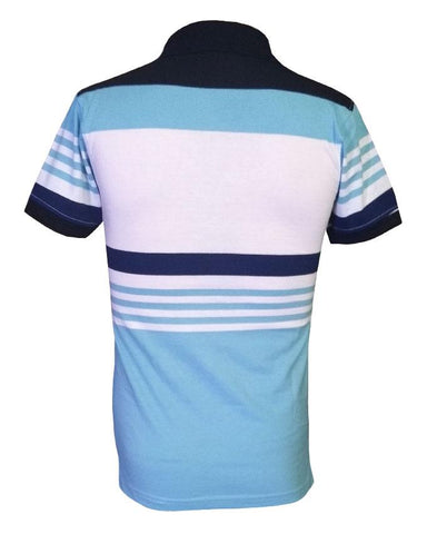 Adiddas Stripped Polo Shirt - Blue
