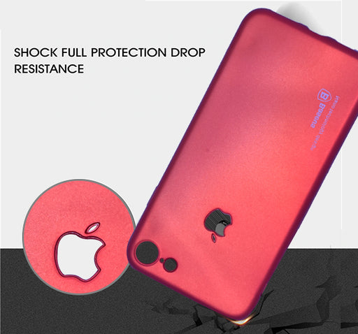 Apple Iphone 7 Simple Back Cover - Red - Hiffey
