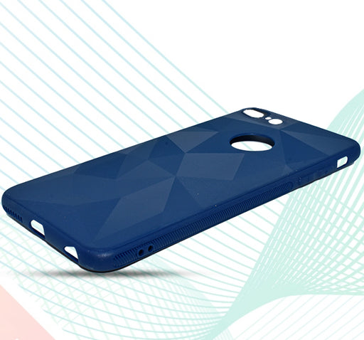 Apple Iphone 7 Plus Bingo Angles Shiny Back Cover - Blue - Hiffey