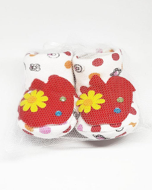 Newborn Baby White Flower Cotton Shoes - Hiffey