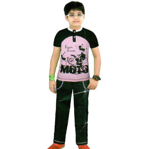 Boom Boom Moto T-Shirt & Trouser for Boys - Hiffey