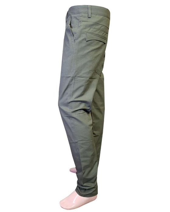 Cotton Chino Pants Fashion Green for Men - Hiffey