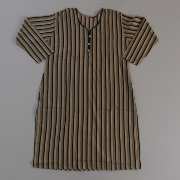 Black and Grey Striped Lines Lawn Kurti - Hiffey