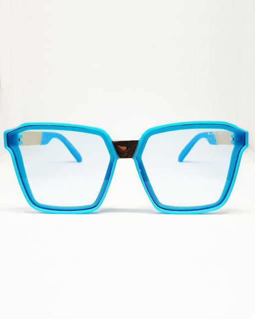 Blue Square Transparent Sunglasses for Kids - Hiffey