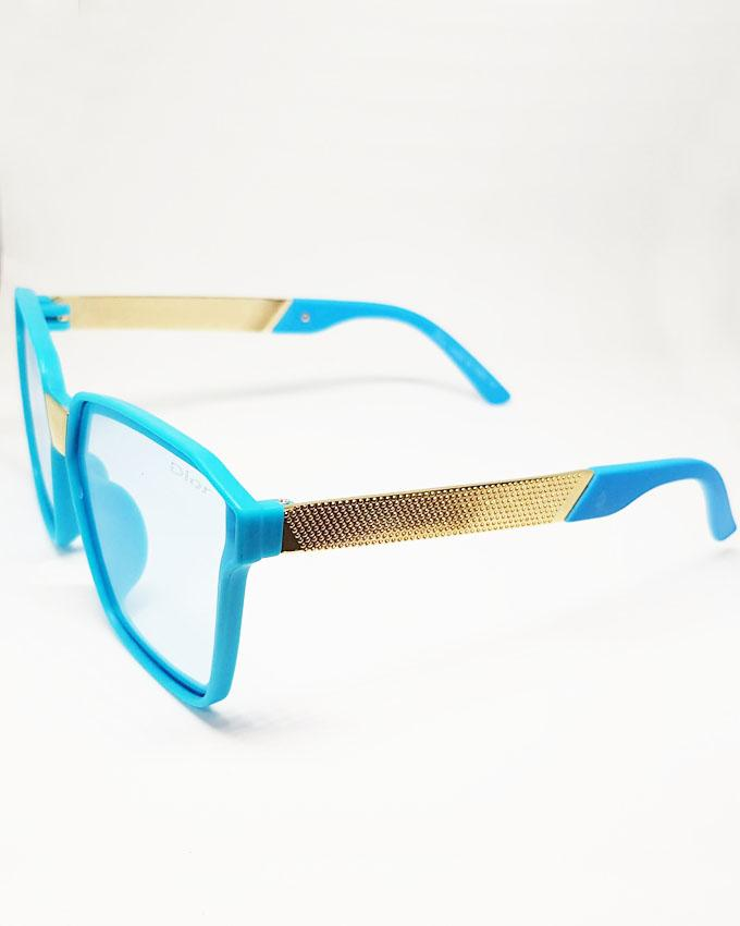 Blue Square Transparent Sunglasses for Kids