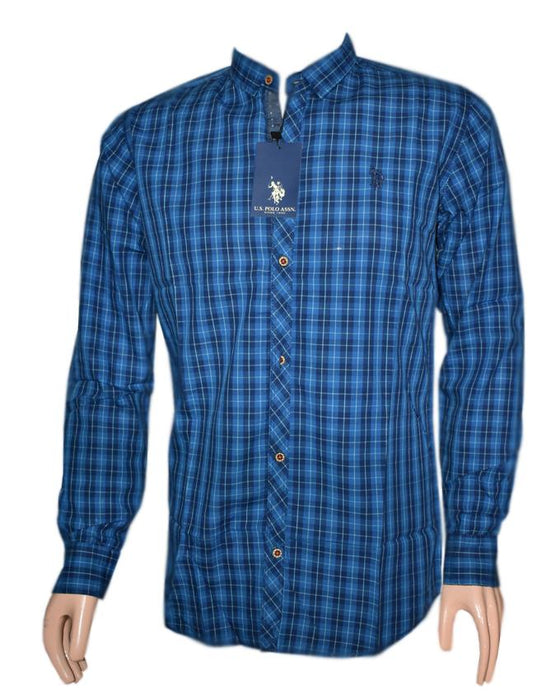 U.S Polo Assn. Full Sleeves Checkered Shirt For Men - Hiffey