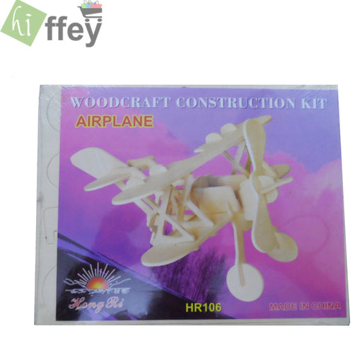 Airplane Woodcraft Construction 3D Puzzle Toy - Hiffey