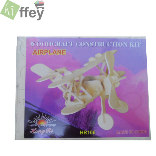 3D Puzzle Toy - Airplane Woodcraft Construction - Hiffey