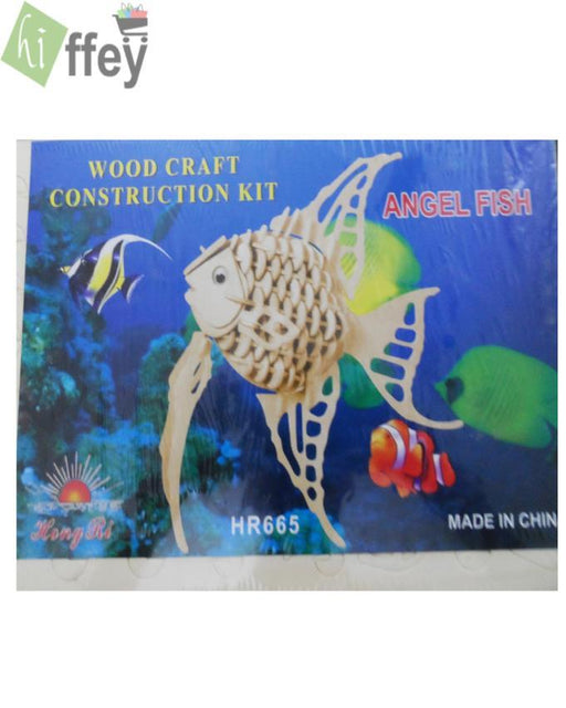 3D Puzzle Toy - Angel Fish Woodcraft Construction - Hiffey