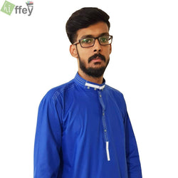 Stylish Navy Blue Kurta For Men - Hiffey