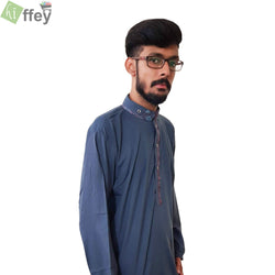 Slate Gray Kurta For Men - Hiffey