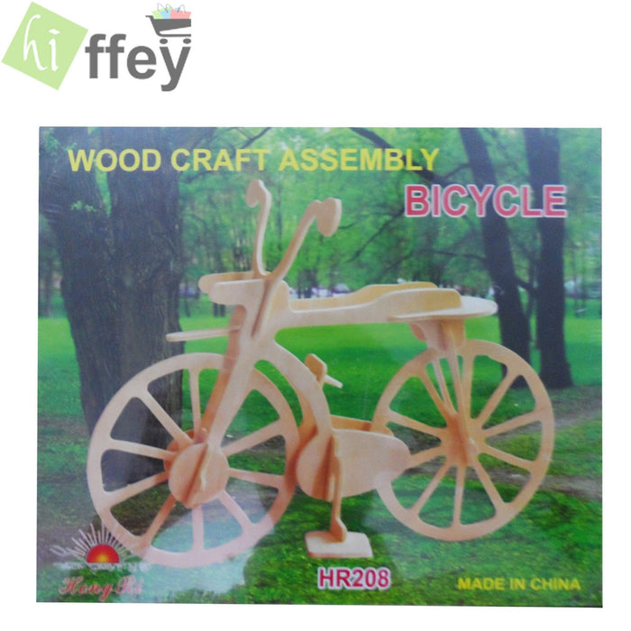 3D Puzzle Toy - Bicycle woodcraft construction