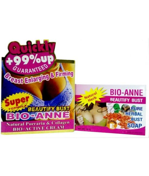 BIO-ANNE Beautify Bust Breast Enlarging and Firming Cream and Soap