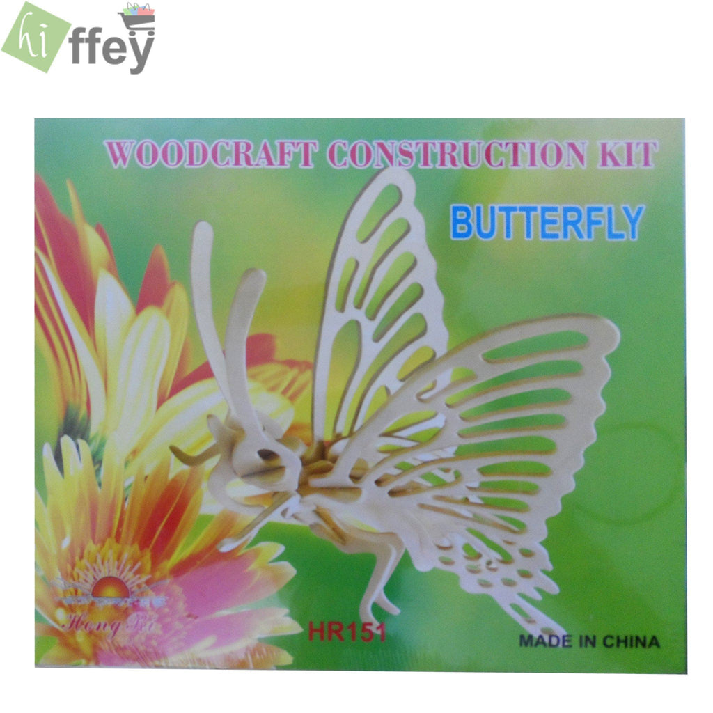 3D Puzzle Toy - Butterfly Woodcraft Construction - Hiffey