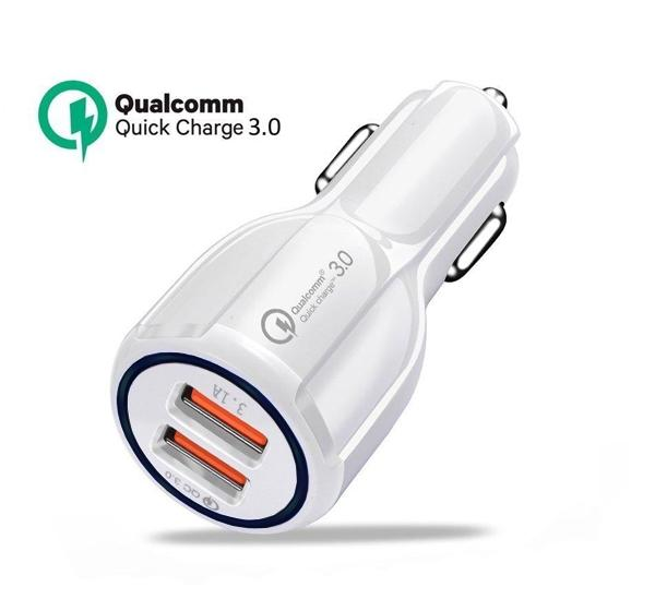 2 Ports Car Charger Quick Charge 3.0