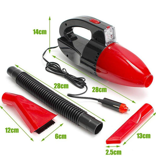 Car Vacuum Cleaner 12V High Power with LED Light - Hiffey