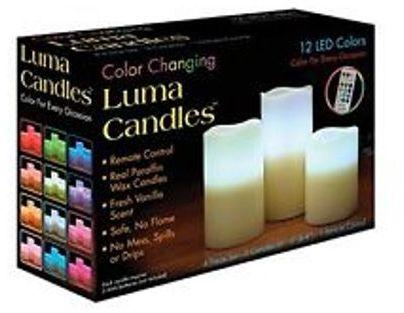 Color Changing Candles - 3 Candles Set - Hiffey
