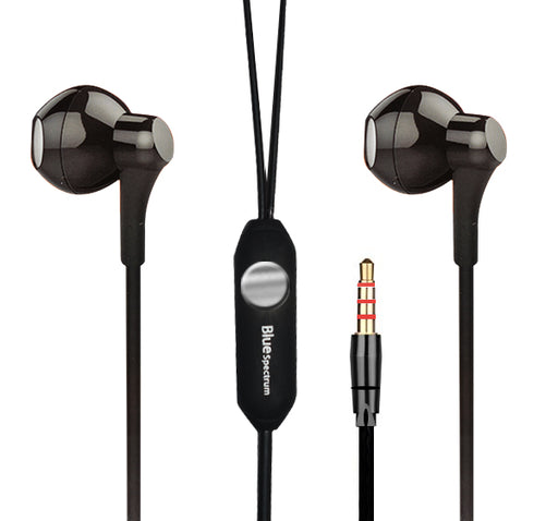 Blue Spectrum D-46 Universal Earphone - Black - Hiffey