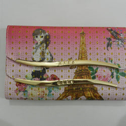 Pink Line Hand Clutch For Girl - Hiffey
