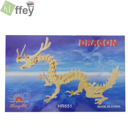 3D Puzzle Toy - Dragon Woodcraft Construction - Hiffey