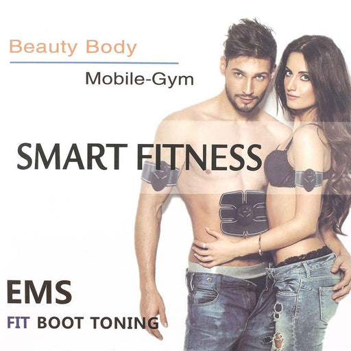 EMS Muscle Stimulator Abdominal Fit Boot Toning Electric Muscle Trainer Gear Beauty Slimming Body Massager Tool