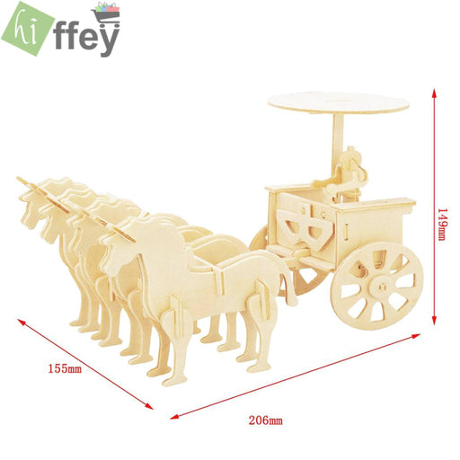 3D Puzzle Toy - Escort Carriage Woodcraft Construction - Hiffey