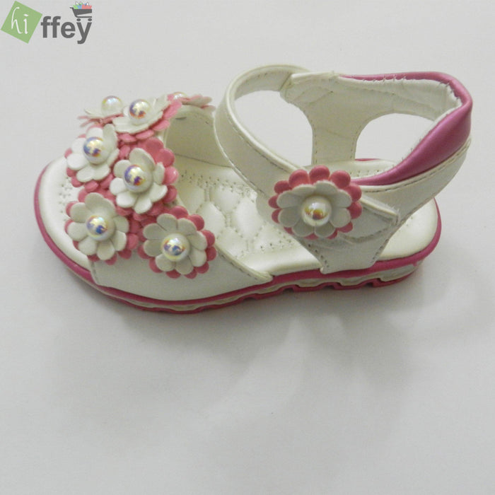 White Fashion Sandal For Girl - Hiffey