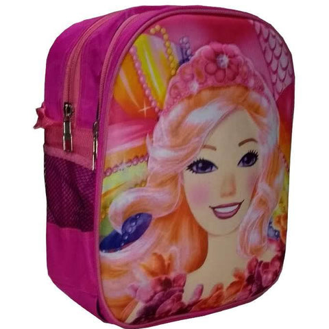 3D Barbie Cartoon Characters School Bag for Pre-School