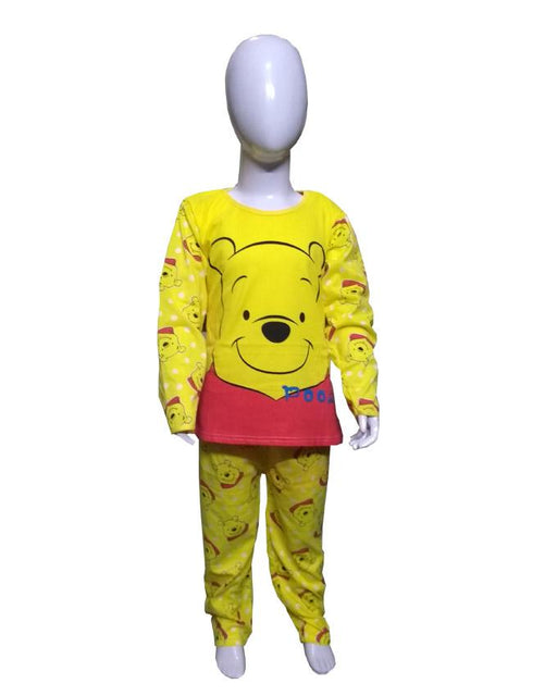 Yellow Pooh Night Suits - Hiffey