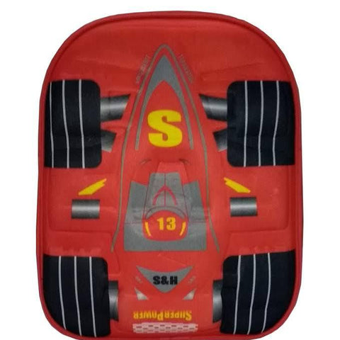 3D Racing Car School Bag for Kids