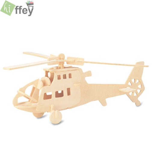 3D Puzzle Toy -Helicopter Woodcraft Construction - Hiffey