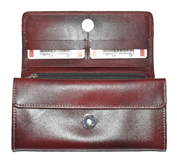 Original Cow Leather Clutch for Ladies - Maroon - Hiffey