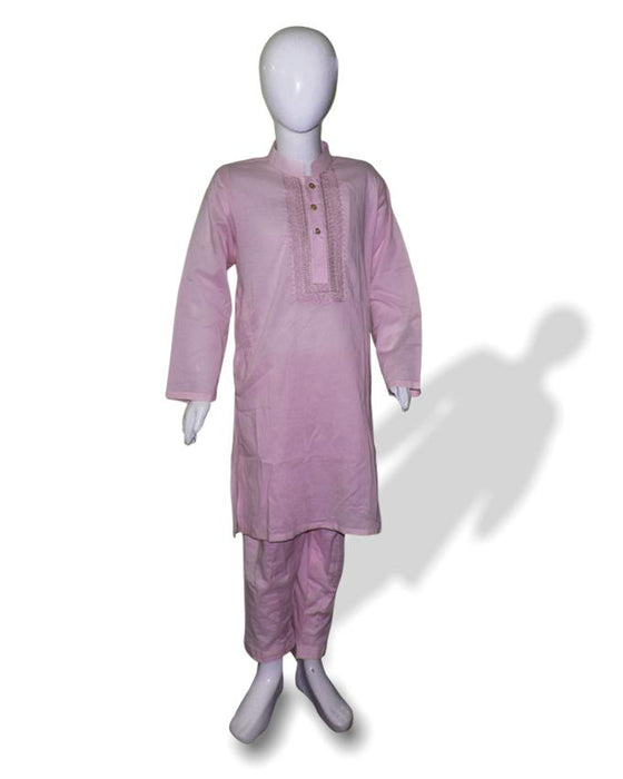 Baby Pink kids Kurta and Shalwar - Hiffey