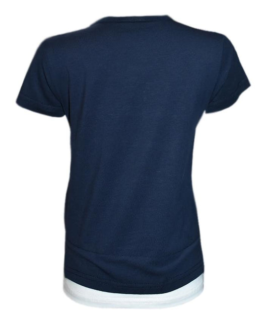 Dark Blue Colour Color T- Shirt For Kids - Hiffey