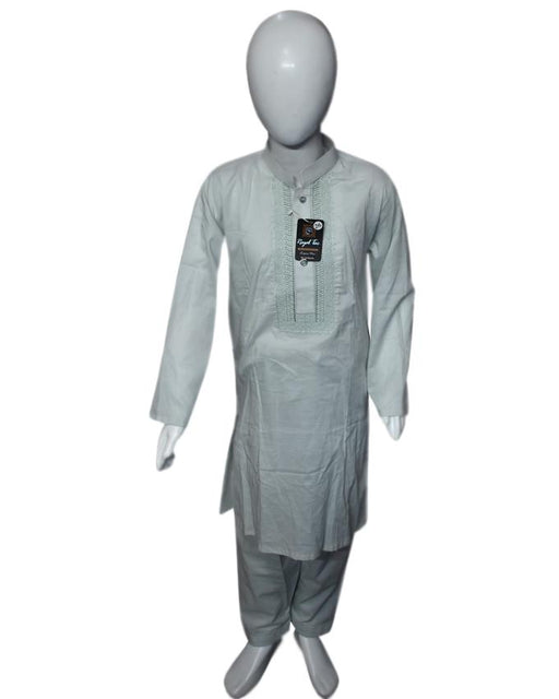 Gray Green kids Kurta and Shalwar - Hiffey