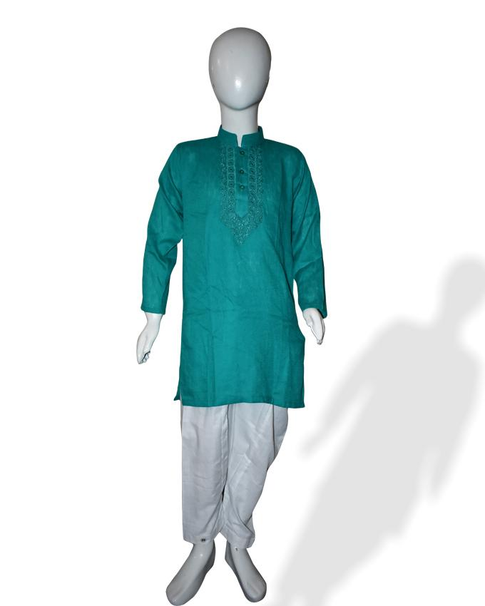 Green Kids Kurta and Shalwar