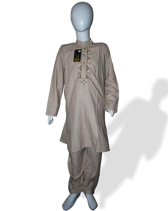 Light Brown kids Kurta and Shalwar