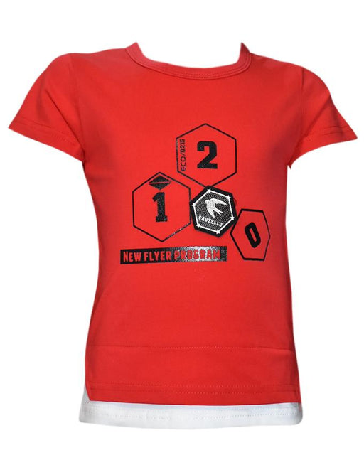 Red Color T- Shirt For Kids - Hiffey