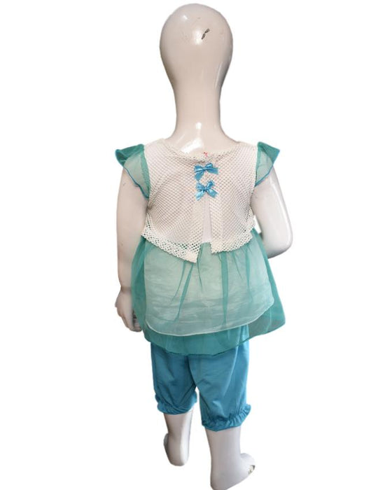 Stylish Frozen Frock Green Color For Baby Girl - Hiffey