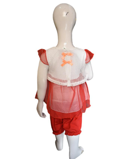 Stylish Frozen Frock Red Color For Baby Girl - Hiffey