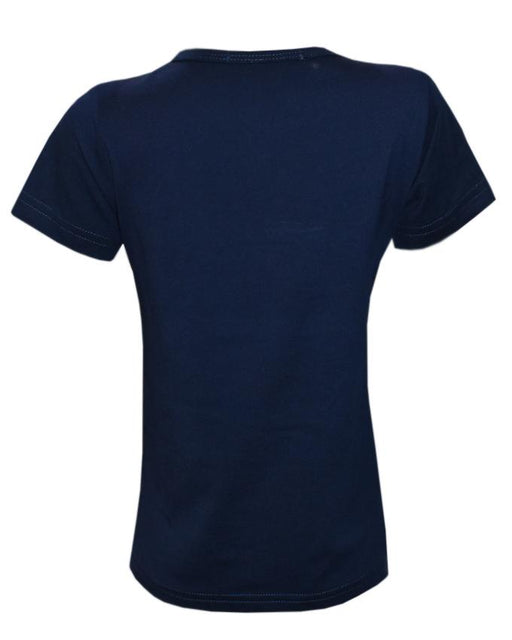 Stylish Navy Blue Color T- Shirt For Kids - Hiffey