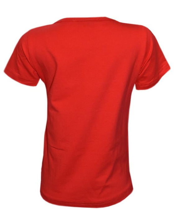 Stylish Red Color T- Shirt For Kids - Hiffey