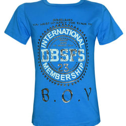 Stylish Sky Blue Color T- Shirt For Kids