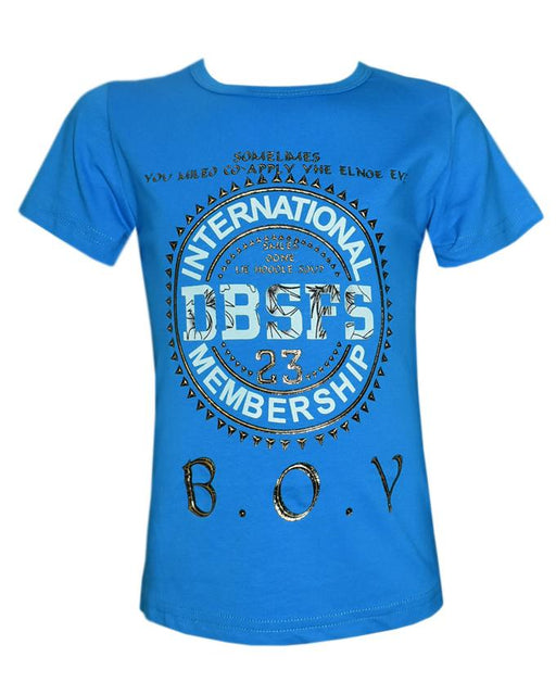 Stylish Sky Blue Color T- Shirt For Kids - Hiffey